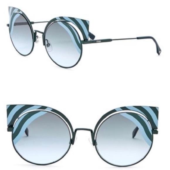 c4a859c7cdd Fendi cut out wave cat eye sunglasses